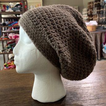 Medium Rose Grey Slouch Hat in Baby Alpaca