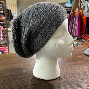 Light Silver Grey Slouch Hat in Baby Alpaca