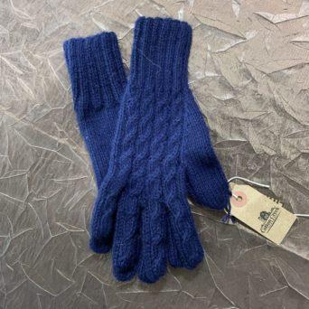 Alpaca Trenza Glove in Navy