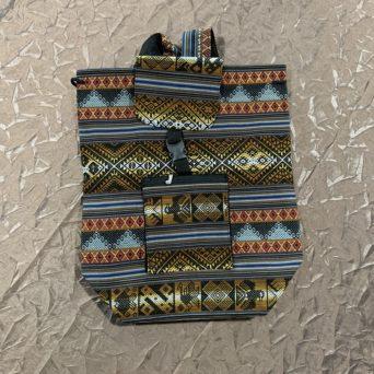 Handmade Peruvian Cloth Backpack Light Blue