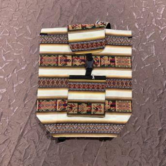 Handmade Peruvian Cloth Backpack Natural