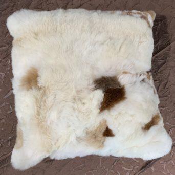"Square Baby Alpaca Fur Pillow - 19"" x 19"""