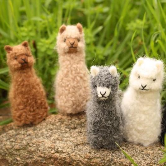 Handmade Baby Alpaca Ornaments