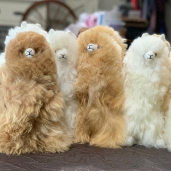 """11"""" Plush Alpaca in Natural Colors"""