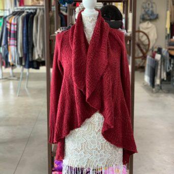 Cloe Alpaca Sweater in Red