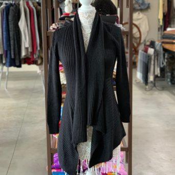 Dawn Alpaca Sweater in Black