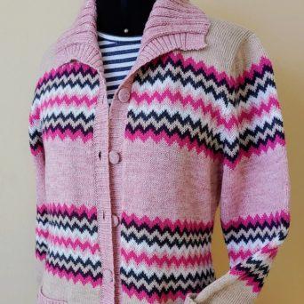 Pink Alpaca Zigzag Sweater