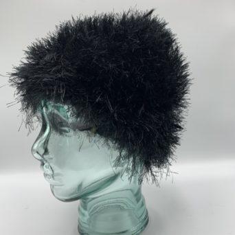 Black Alpaca and Fun Fur Chemo Hat