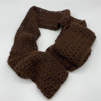 Brown Alpaca Infinity Scarf