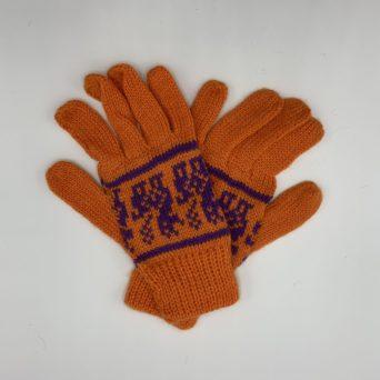 Orange Alpaca Gloves