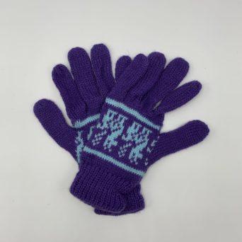 Purple Alpaca Gloves