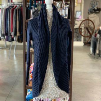 Navy Blue Lima Alpaca Blend Sweater