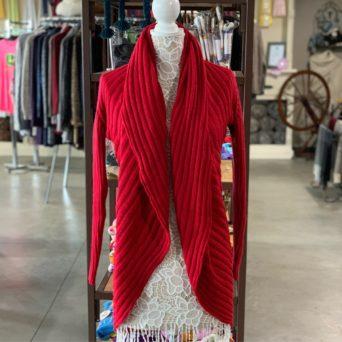 Red Lima Alpaca Blend Sweater