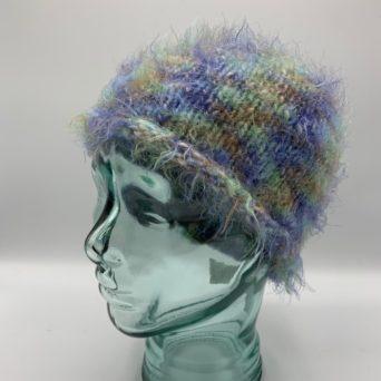Multicolor Alpaca Fiber & Fun Fur Hat