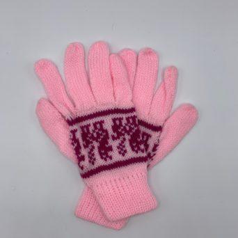 Light Pink Peruvian Print Gloves