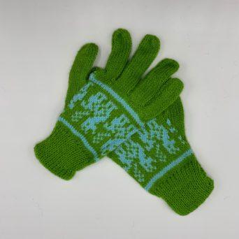 Light Green Peruvian Print Gloves