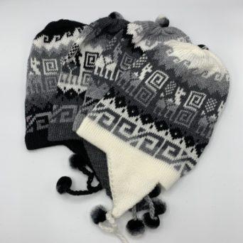 Grey Chullo Hat in Alpaca Blend
