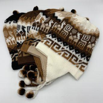 Brown Chullo Hat in Alpaca Blend