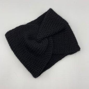 "Black 7"" Headband Handmade by Grandma Lil"