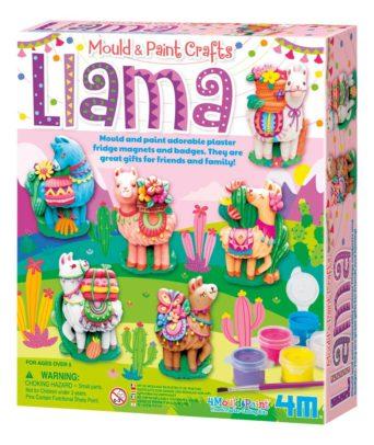 Mould & Paint Llama DIY Plaster Art Kit