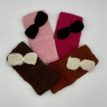 Handmade Alpaca Headband With Bows