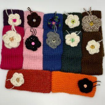 Handmade Alpaca Headband With Flowers
