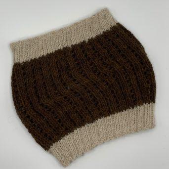 Brown and Beige Alpaca Neck Warmer
