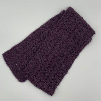 Handmade Purple Alpaca Scarf