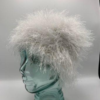 White Alpaca Fiber & Fun Fur Hat