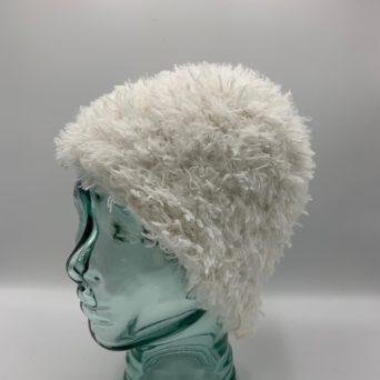 White Alpaca Fiber & Soft Fun Fur Hat