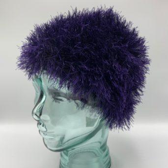 Purple Alpaca Fiber & Fun Fur Hat