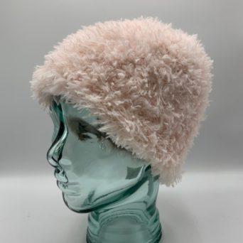 Light Pink Alpaca Fiber & Fun Fur Hat
