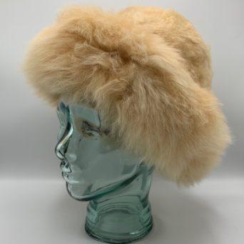 Light Fawn Baby Alpaca Fur Hat