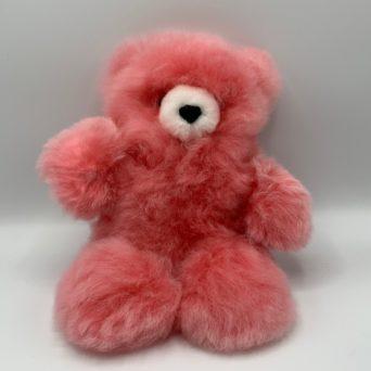 "10"" Pink Teddy Bear Made From Baby Alpaca"