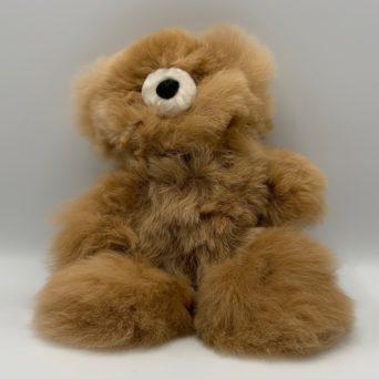 """10"""" Light Fawn Teddy Bear Made From Baby Alpaca"""