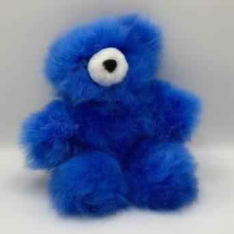 "10"" Dark Blue Teddy Bear Made From Baby Alpaca"