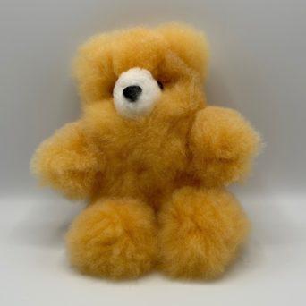 "10"" Orange Teddy Bear Made From Baby Alpaca"