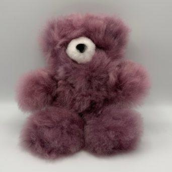 "10"" Purple Teddy Bear Made From Baby Alpaca"