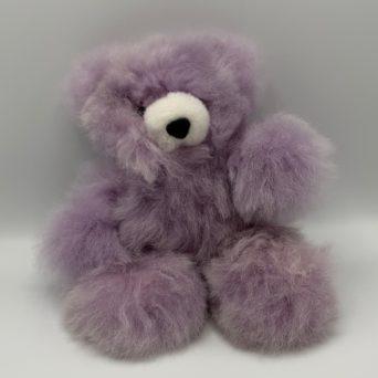"10"" Lilac Teddy Bear Made From Baby Alpaca"