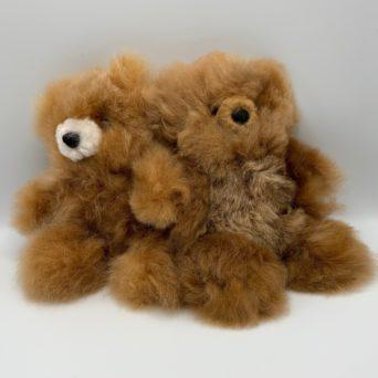 "10"" Medium Fawn Teddy Bear Made From Baby Alpaca"