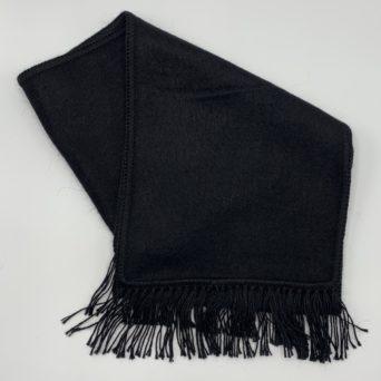 Black Woven Alpaca Scarf