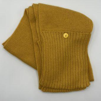 Mustard Alpaca Scarf With Pockets