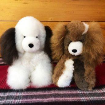 Stuffed Puppy Made from Baby Alpaca