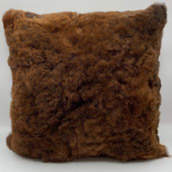 """Brown Baby Alpaca Fur Pillow - 15""""x15"""""""