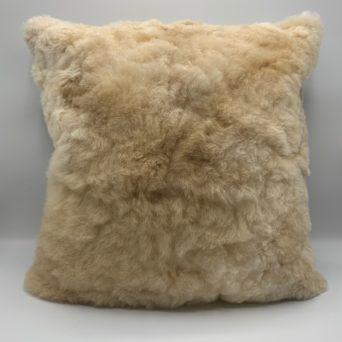 """Light Fawn Baby Alpaca Fur Pillow - 15""""x15"""""""