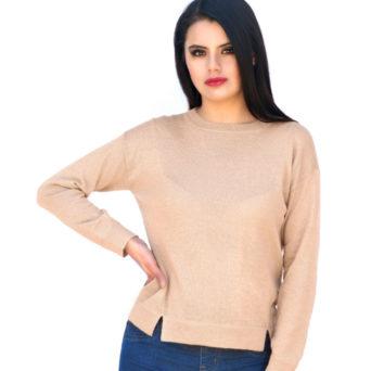 Camila Baby Alpaca Pullover Sweater in Hazelnut