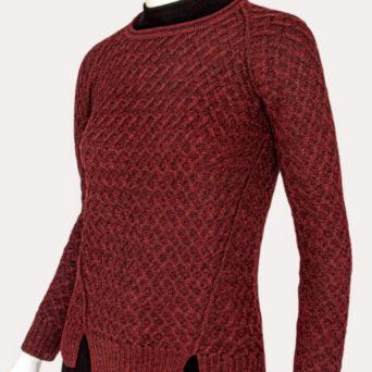 Ivane Baby Alpaca Sweater in Burgandy