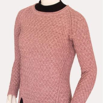 Ivane Baby Alpaca Sweater in Rose