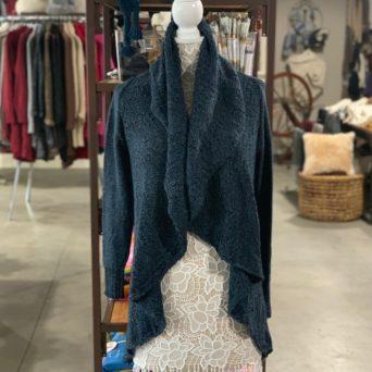 Cloe Alpaca Sweater in Blue Melange