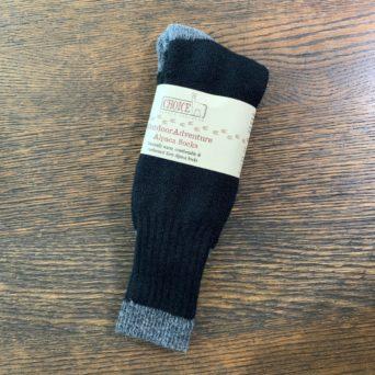 Black Outdoor Adventure Alpaca Socks